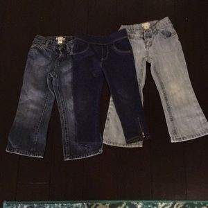 Lot of 3 Old Navy Toddler Girl Jeans 3T cute!!